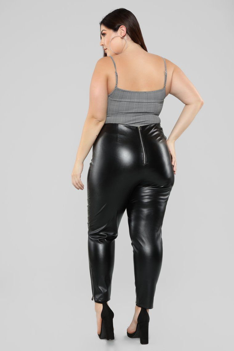 She Always Goes For A Ride Pants Black Plus Size Leather Pants Plus Size Legging Outfits Leather Pants Women