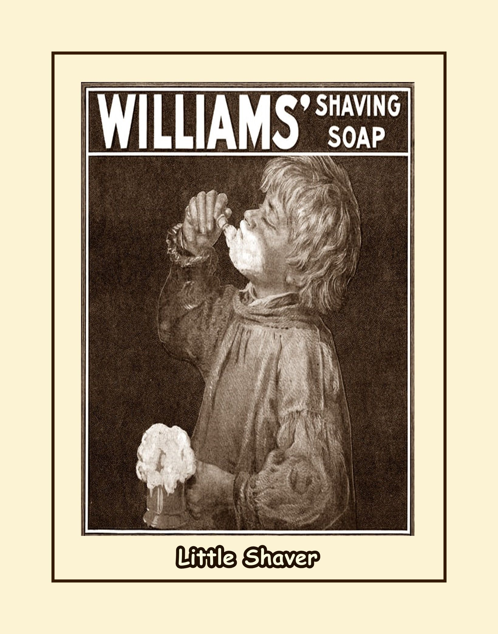vintage bathroom wall art, gift for men, mens shaving soap wall