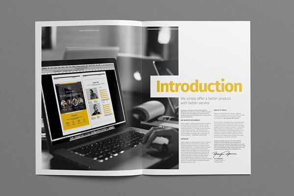 Beautiful Modern Brochure  Folder Design Ideas   Design