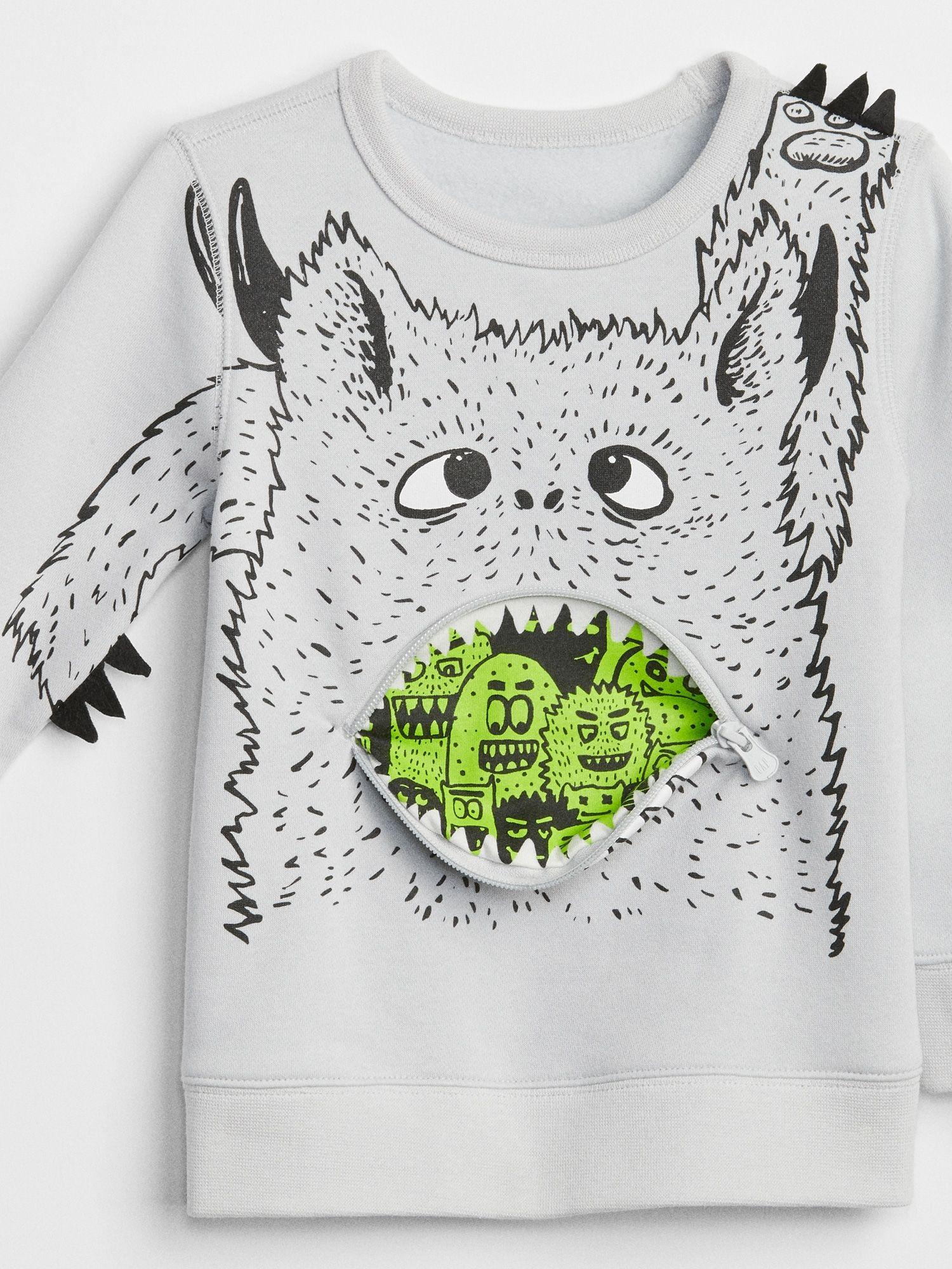 3D Graphic Sweatshirt 26.95 Gap Halloween 2018