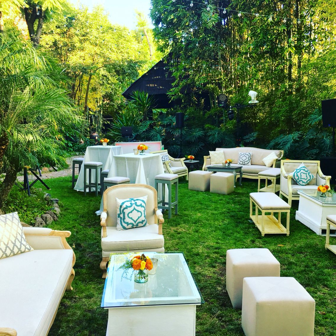 Garden party. Lounge furniture welcome party @SanMigueldeAllende