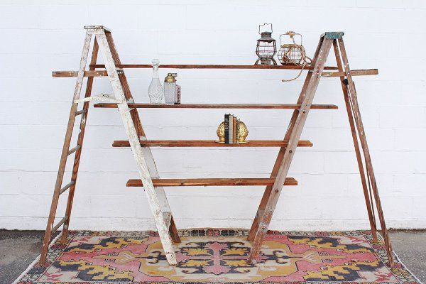 Rental Inventory Vintage Ladder Ladder Shelf Wooden Ladder
