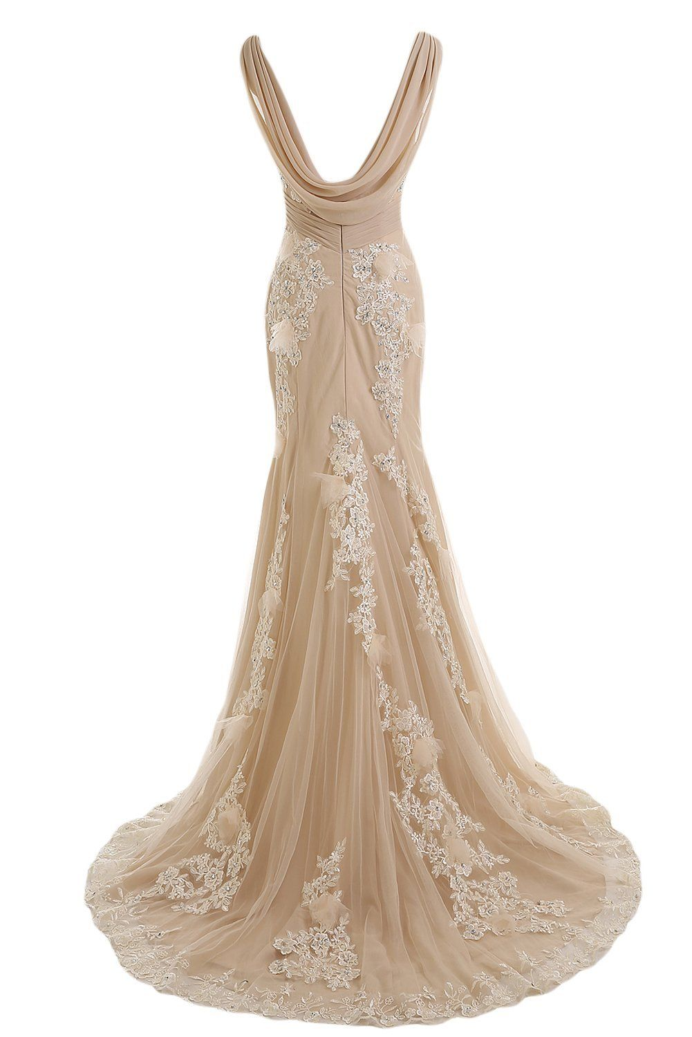 A beautiful wedding gown to flatter your romantic day dangles a beautiful wedding gown to flatter your romantic day champagne lace ombrellifo Gallery