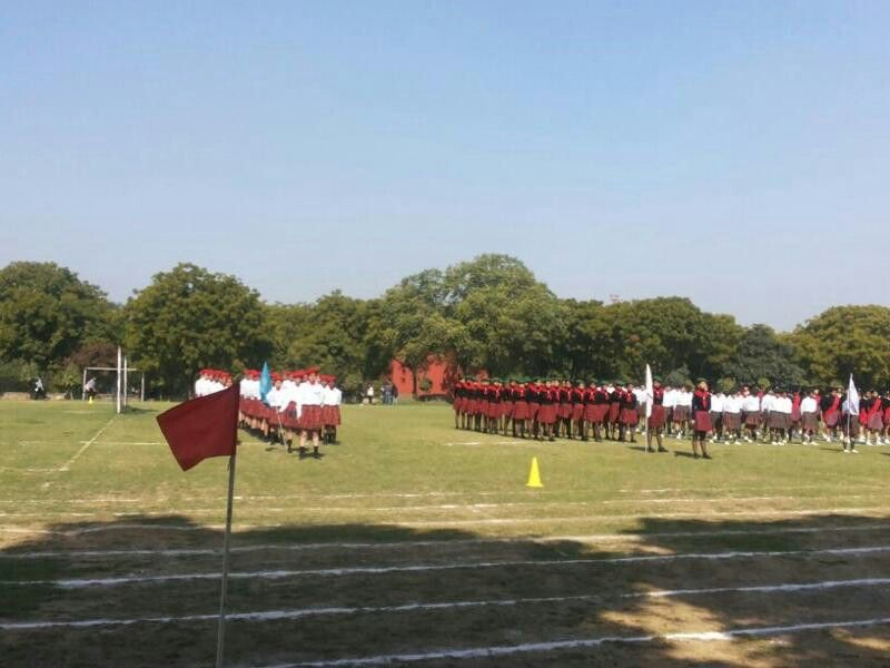 Sports day march past