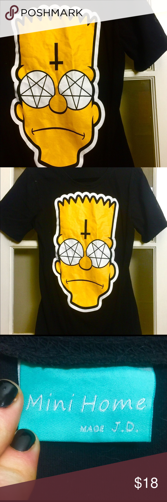 adc0da87 Satanic Temple of Springfield Bart Simpson Tee Love witchcraft? Love The  Simpsons! Then, BOY HOWDY is this the shirt for you! Mini Home Made by J.D.  Indie ...