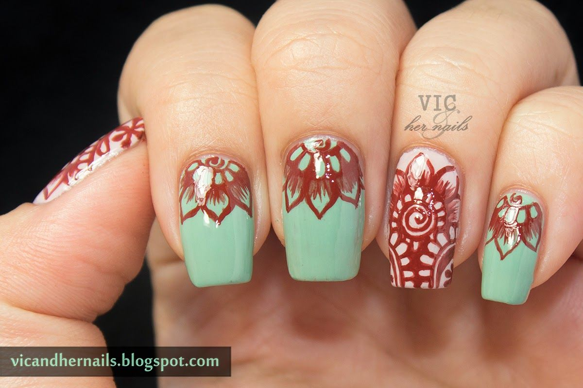 Not Loving The Color Combo But I Like The Design Nails
