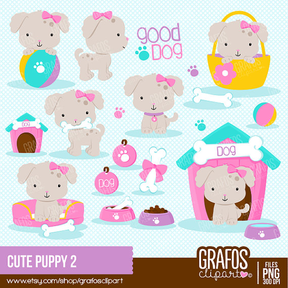 cute puppy 2 digital clipart set puppy clipart dog clipart pets rh pinterest com digital clipart elements baby scrapbooking digital clipart images