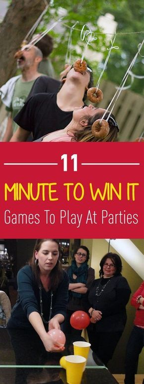 11 minute to win it games to play at parties christmas parties pinterest lustige spiele. Black Bedroom Furniture Sets. Home Design Ideas