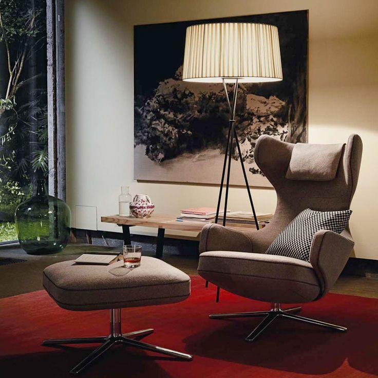 Elegante Möbel fürs Wohnzimmer Lampe und Sessel gibt es bei Ruby