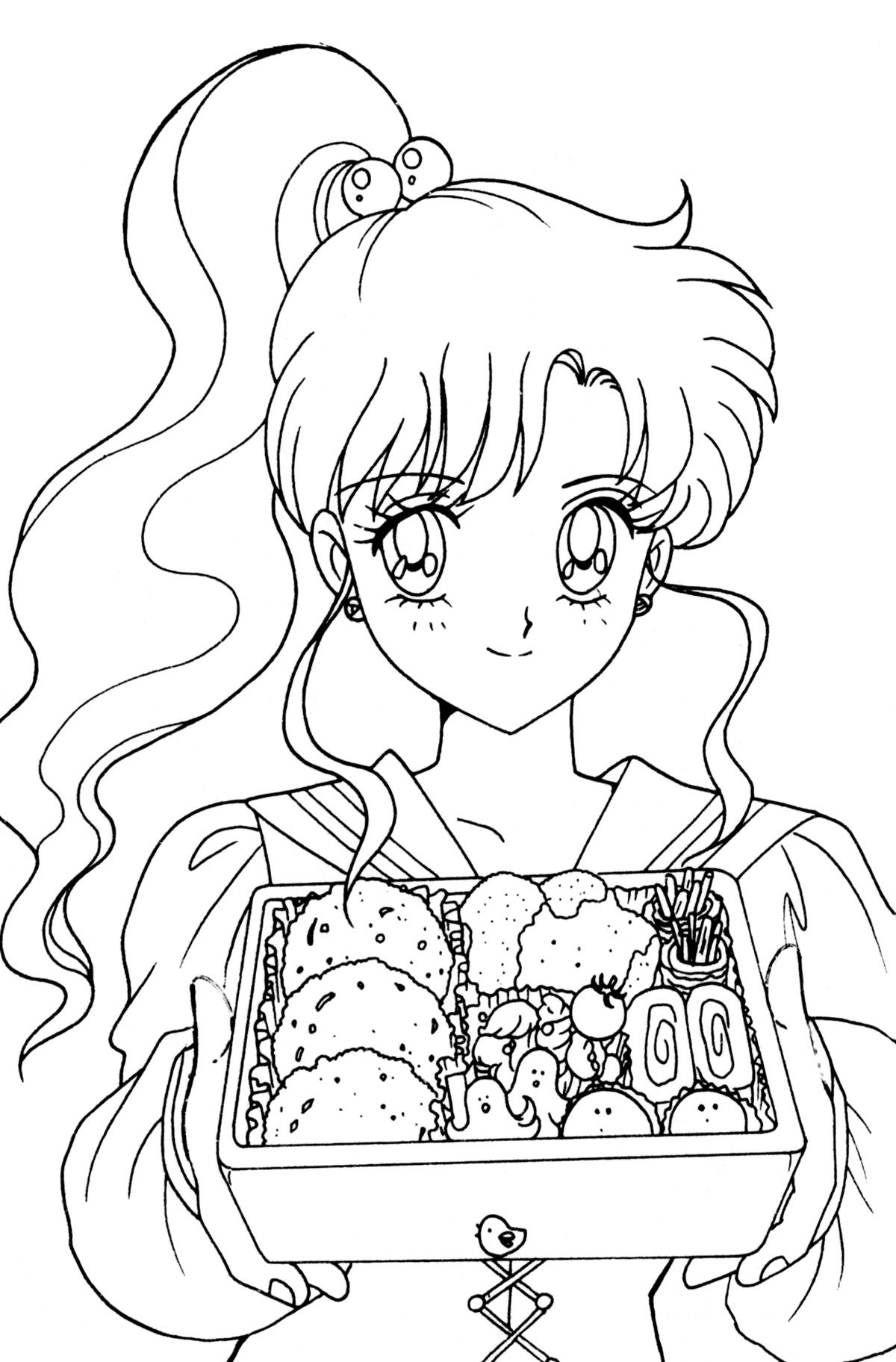 Sailor Moon Coloring Pages Book Fan Art