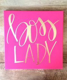 Boss Lady  12x12 Canvas, Office Decor, Boss Lady Sign, Boss Gift, Boss Lady  Print, Boss Lady Sign, Office Signs, Gift For Boss, Boss Sign