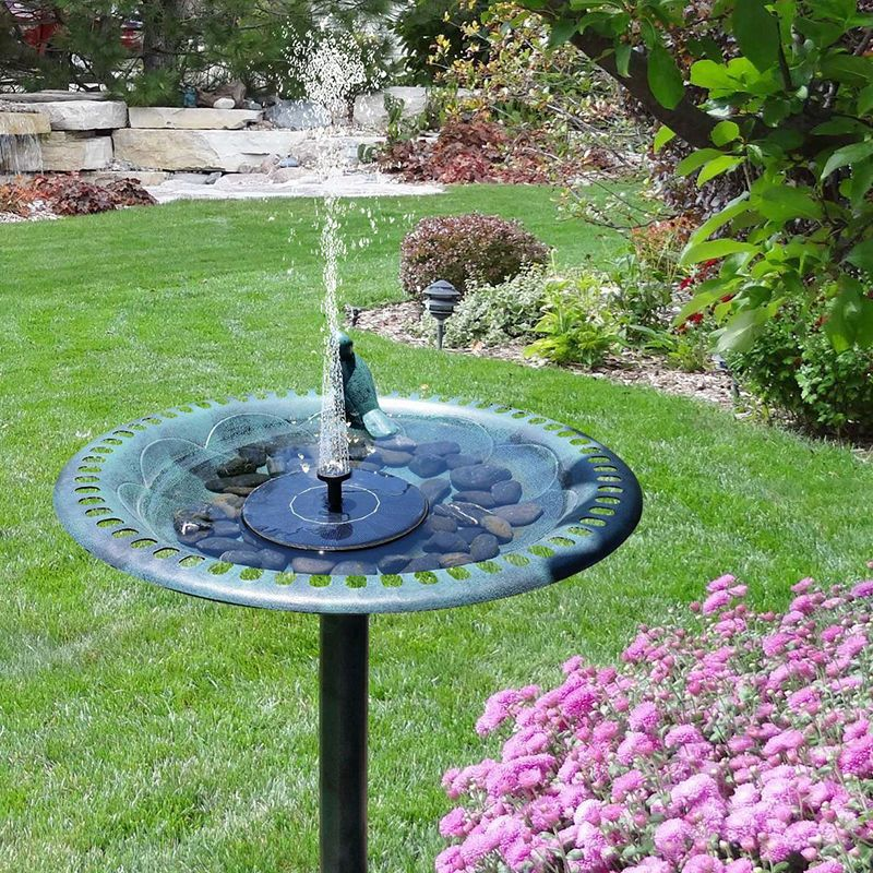 14.98 AUD Hot Outdoor Solar Powered Bird Bath Water