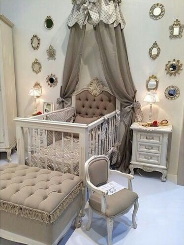 Chambre Bebe Taupe Beige With Images Baby Room Decor Baby Bed