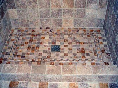 Come realizzare un piatto doccia in mosaico wood and house pinterest trays woods and house - Piatto doccia mosaico ...