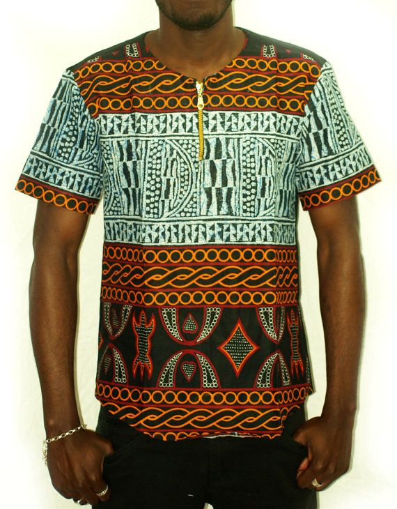 Mini tunic made from African fabric lePPgBZ5