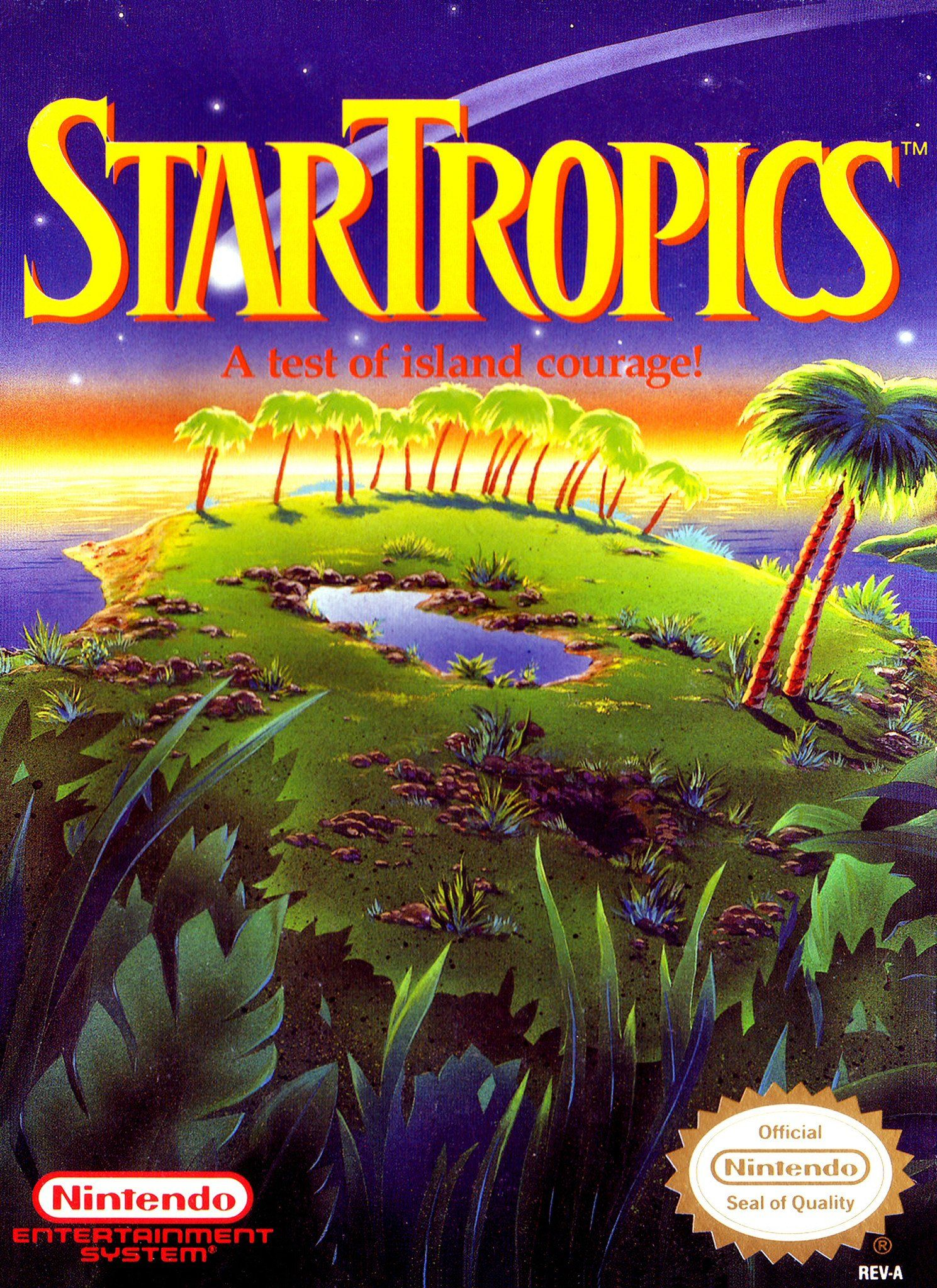 Retro Star Tropics Game Poster////NES Game Poster////Video Game Poster////Vintage Game