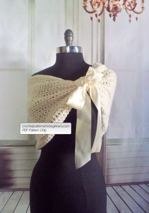 Crochet Pattern Wedding Shawl Bridesmaids Crochet Shrug Crochet ...