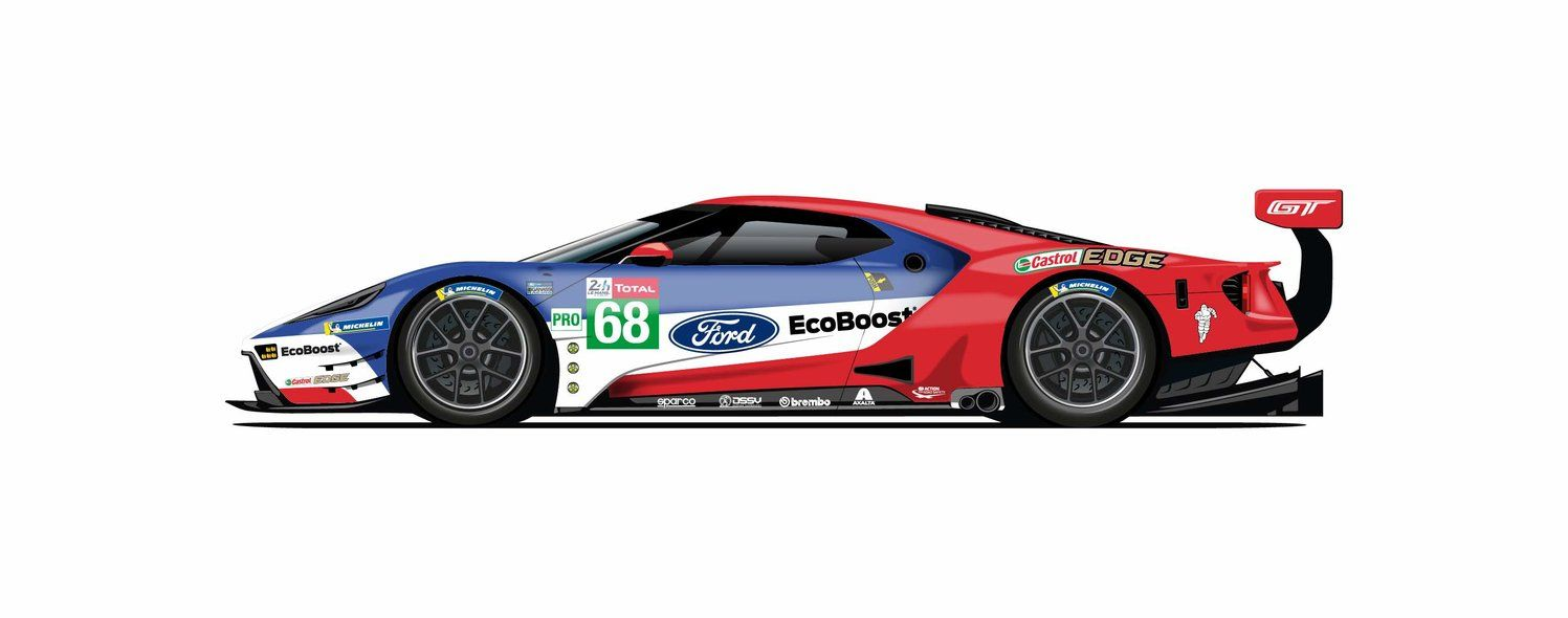 Ford S Gt Race Cars Get Historic Liveries For Le Mans Ford Gt Ford Gt Le Mans Ford