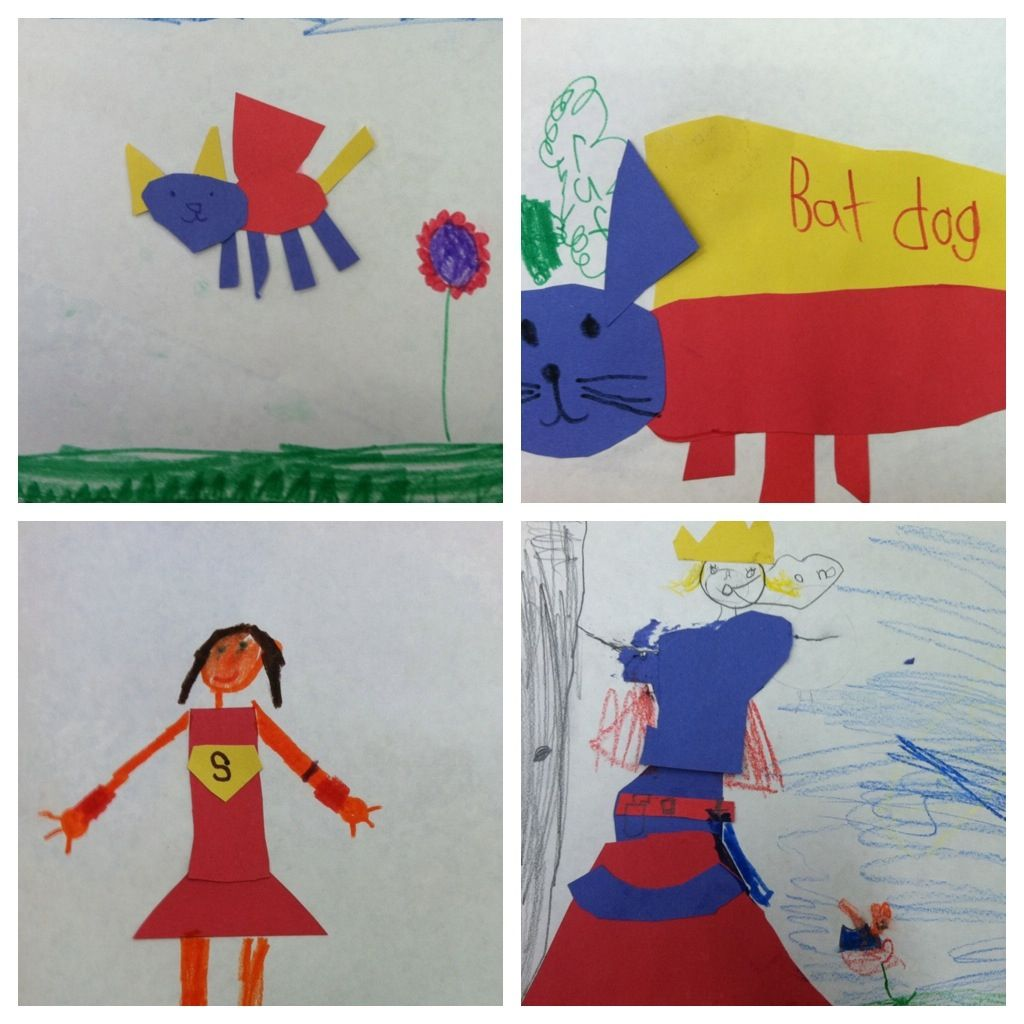 Primary Color Super Heros.