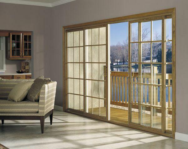 La porte coulissante vitrée- la peinture est la nature Portes - Peindre Fenetre Bois Interieur