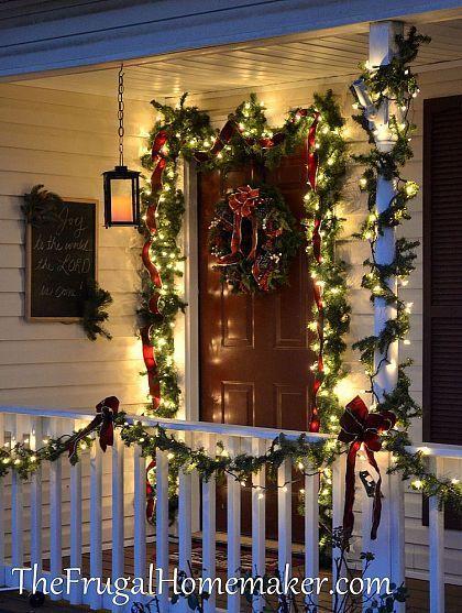 christmas front porch - Primitive Christmas Porch Decor