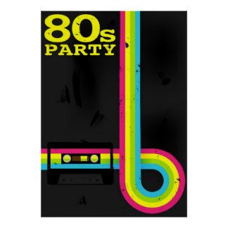 Image result for 80s party invitations template free Eighties