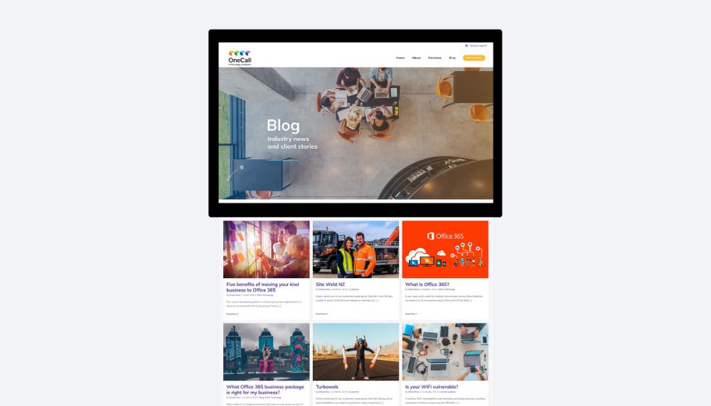 Onecall Website Design Creative Branding