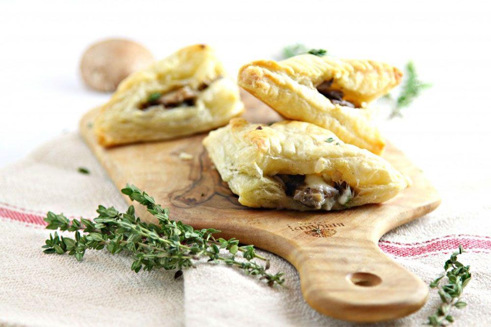 Sauteed Mushroom and Brie Puff Pastry Bites | Fresh Mushrooms