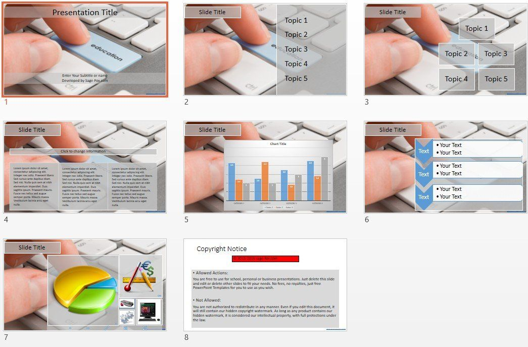 Education Powerpoint Template Free Powerpoint Templates