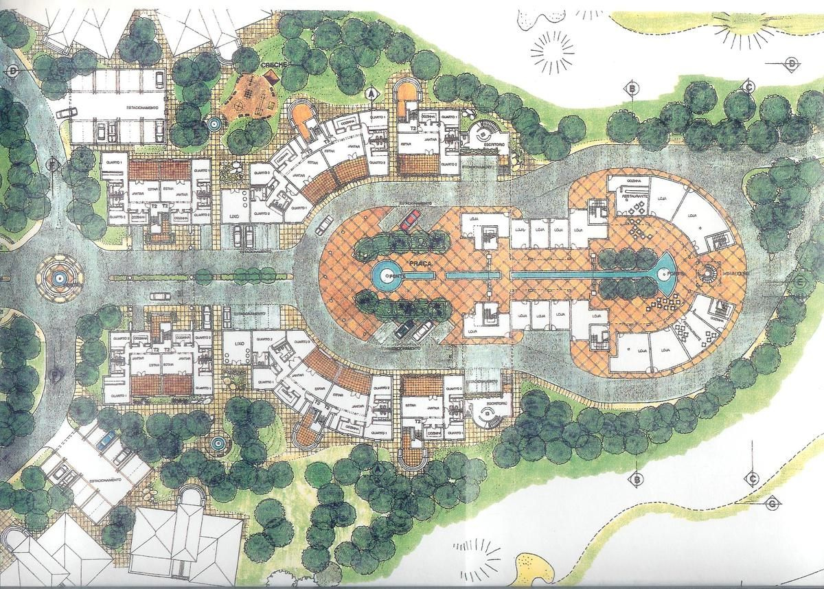 Master plan for a urban design golf course touristic for Hotel architecture plan