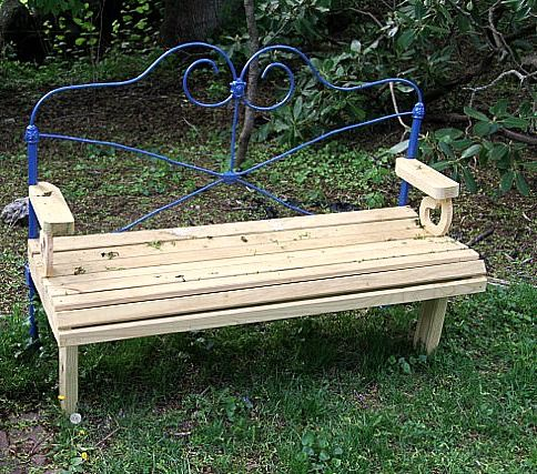 Upcycled Garden Bench From This One Good Life The Creative Homeacre Blog Hop Featured Post Upcycle Garden Garden Bench Outdoor Decor