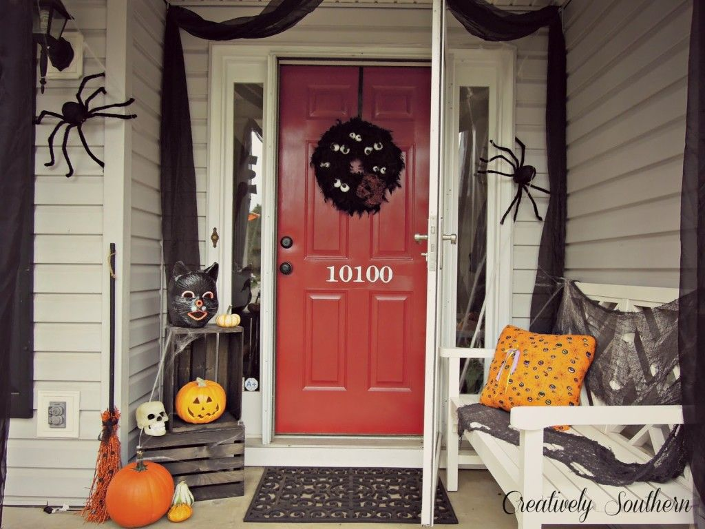 Fabulous Halloween Front Door Decoration Ideas  Winsome Creatively - Halloween Door Decorations
