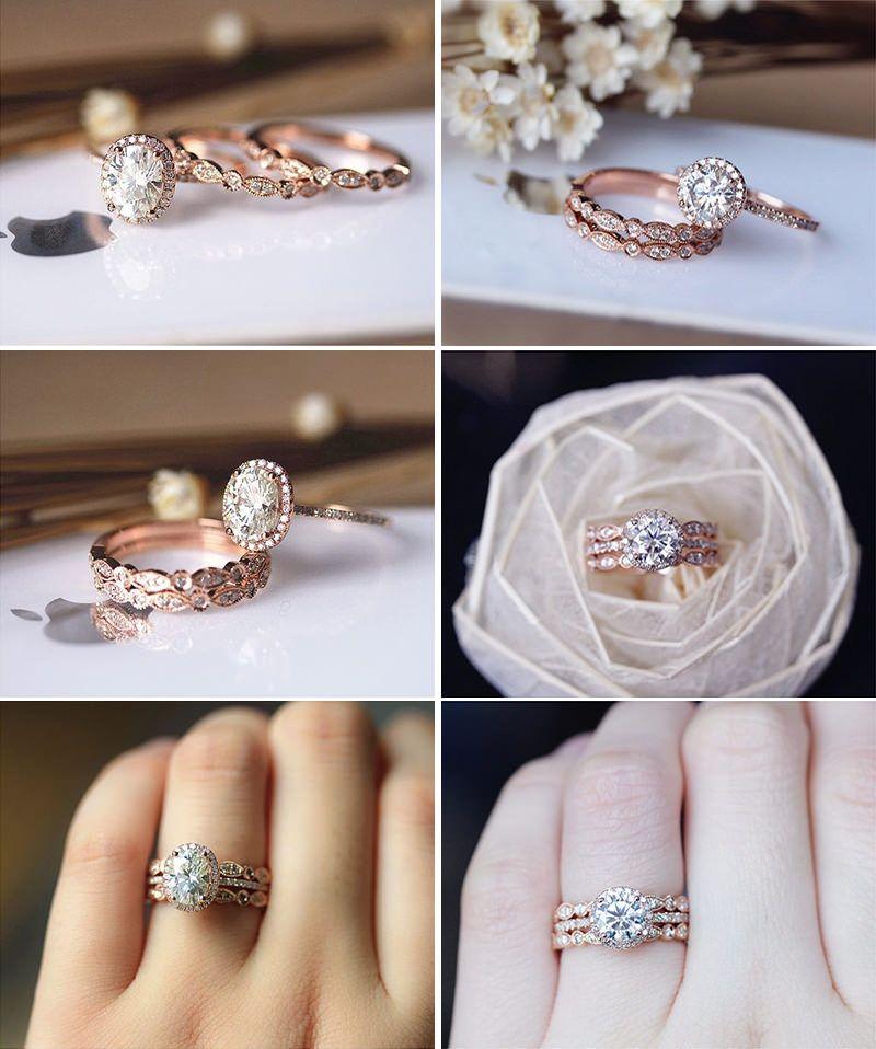 23 anéis de noivado com ouro rosê para derreter seu coração ... fcc9e00df3