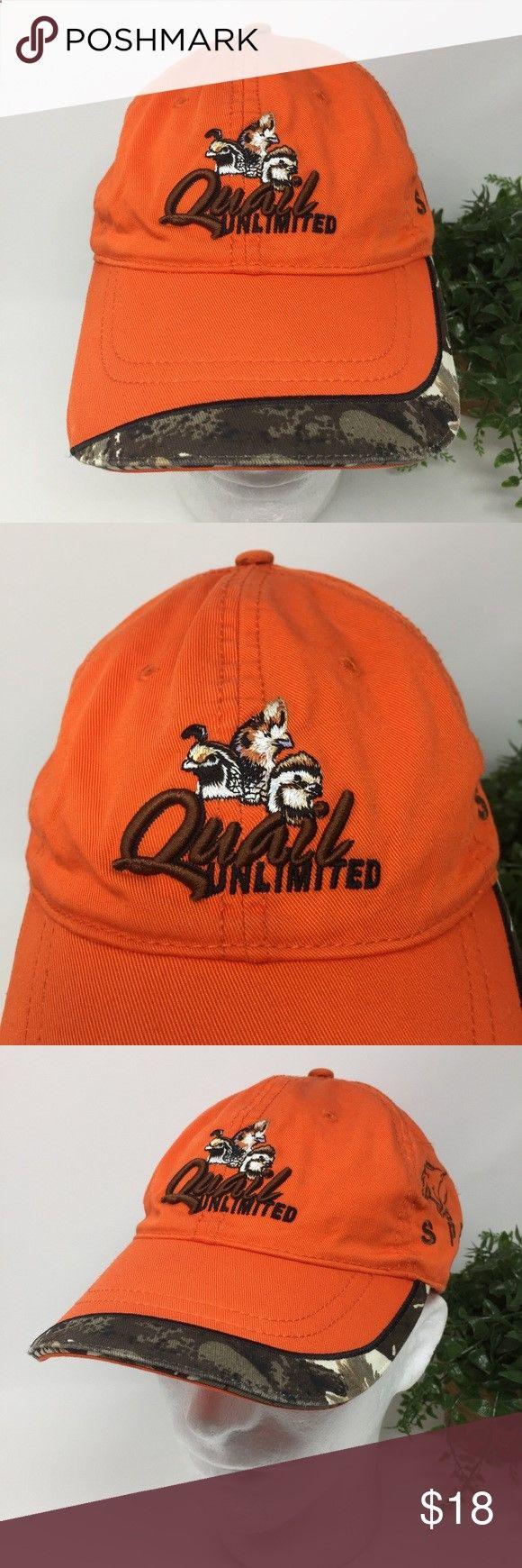 791e3235bfd Quail Unlimited Hunters Orange and Camouflage Hat Atlanta Cap Company Quail  Unlimited Hunters Orange Camouflage Hat
