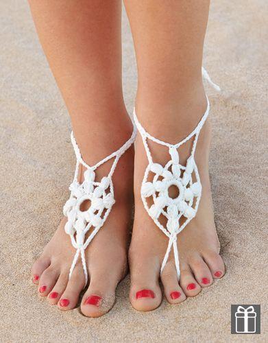 Patrón Gratuito Para Tejer Unas Tobilleras Free Crochet Barefoot