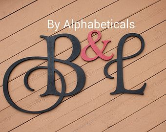 Decorative Wall Letters Initial Monogram Wall Decor Wooden ...