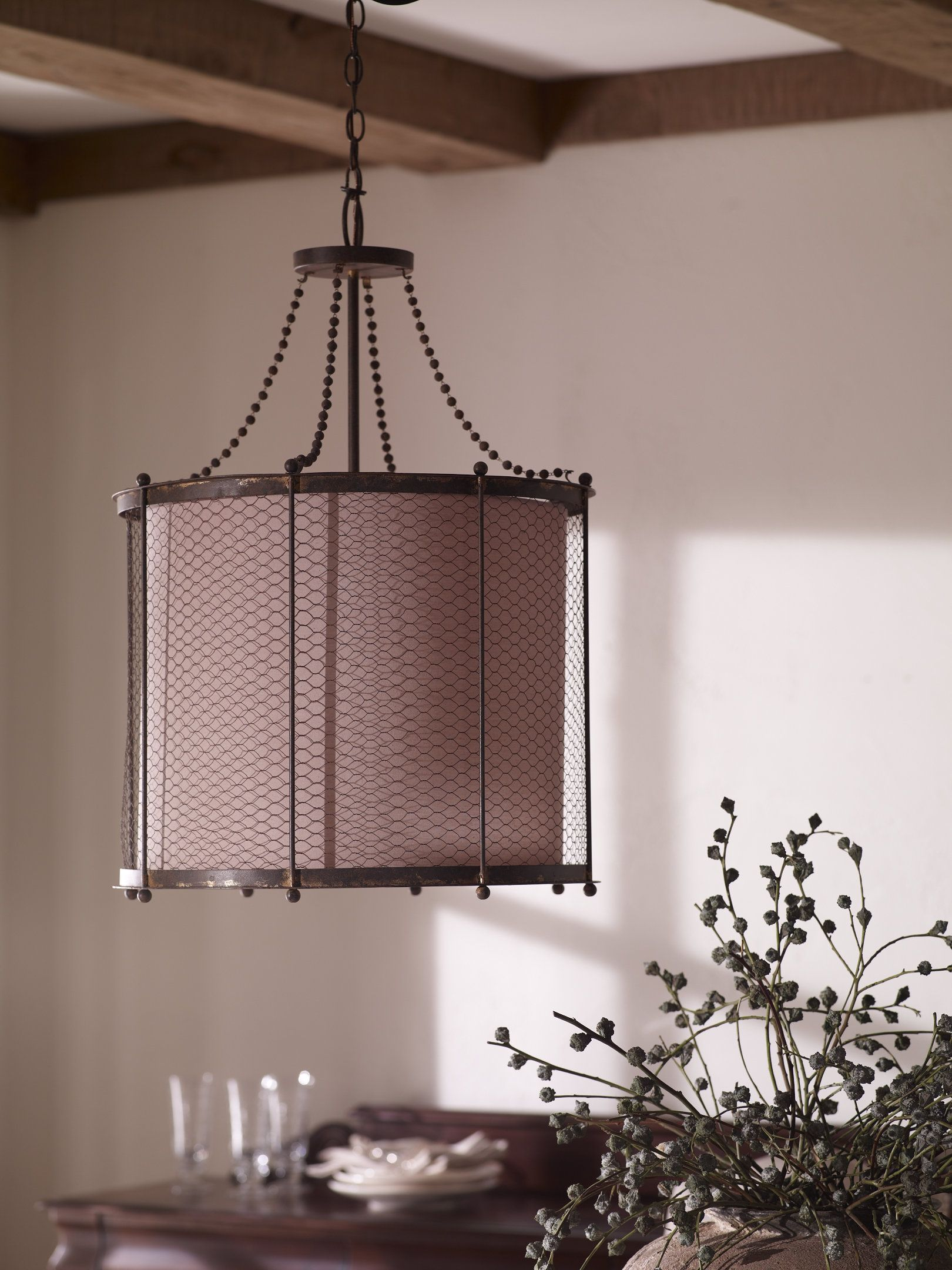 There\'s just something about this Wire Mesh Pendant Lamp that I ...