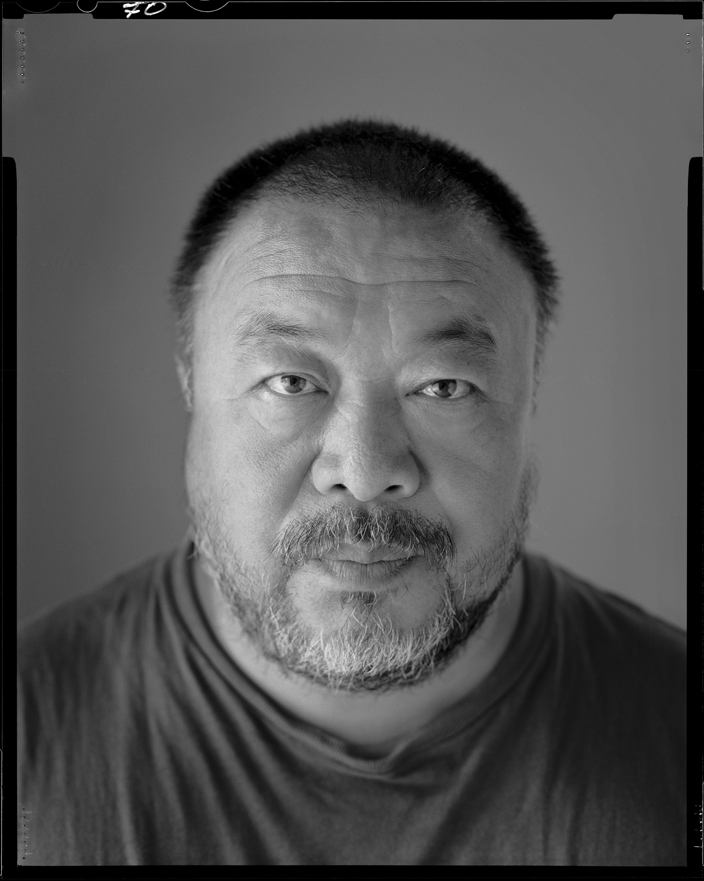 Ai Weiwei photographed by Grant Delin in Beijing for Interview, May 2013.