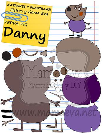 Plantillas Personajes Actuales Peppa Pig | En goma eva | Pinterest ...