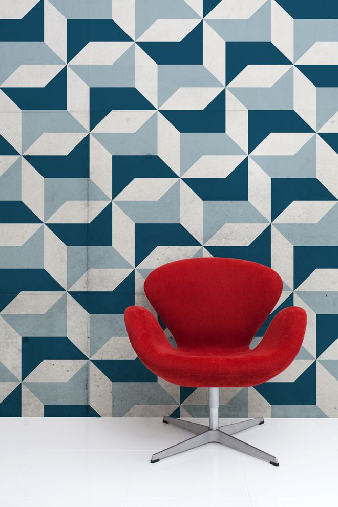 Abstract Blue Geometric Wallpaper Muralswallpaper Co Uk