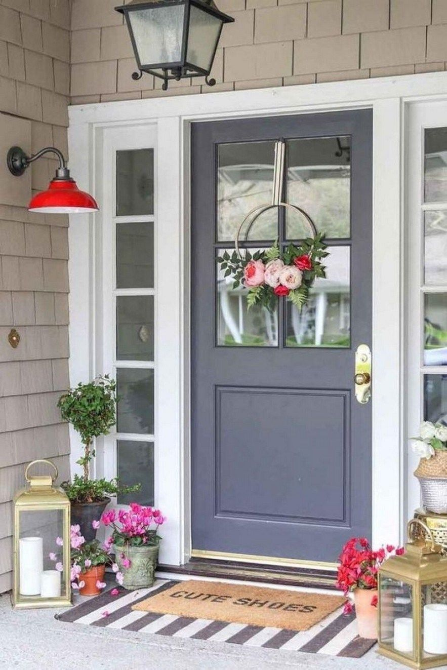 64 beautiful and simple front porch for summer design 55 on gorgeous modern farmhouse entryway decorating ideas produce a right one id=28926