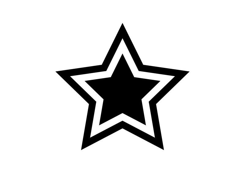 Simple Black And White Star Icon Black And White Stars Black And White Stars