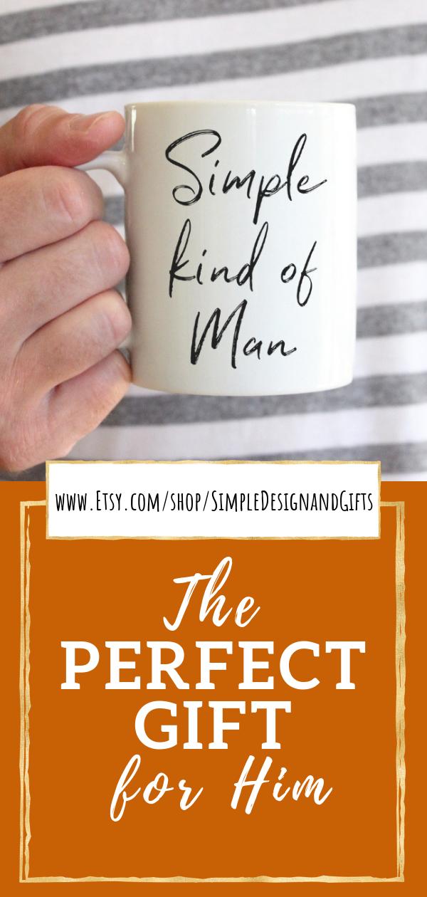 """This Simple Man Coffee Mug has the music lyrics, """"Simple"""