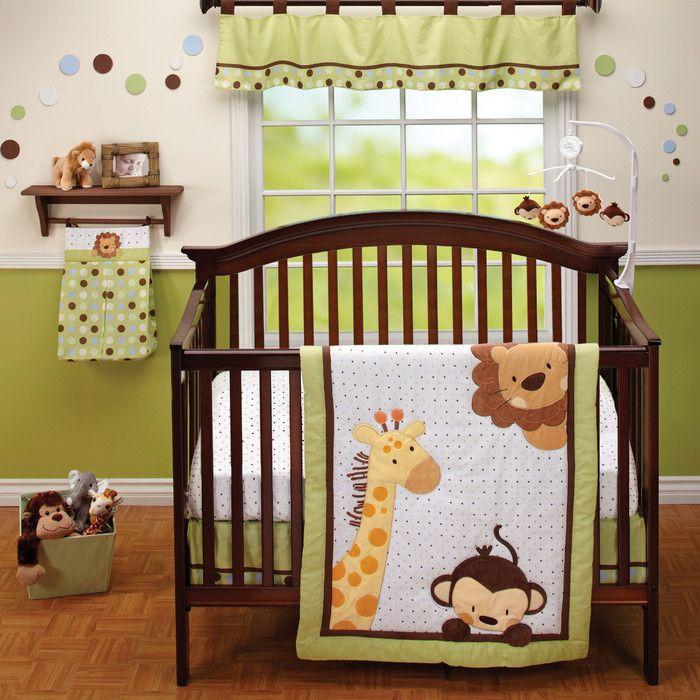 Jungle Buddies 3 Piece Crib Bedding Set Jungle Crib Bedding Baby Bedding Sets Crib Bedding Boy