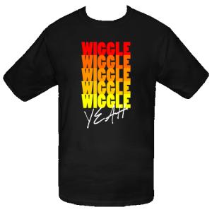 Wiggle, wiggle, wiggle, wiggle, wiggle, yeah! T-Shirt - Black $19.