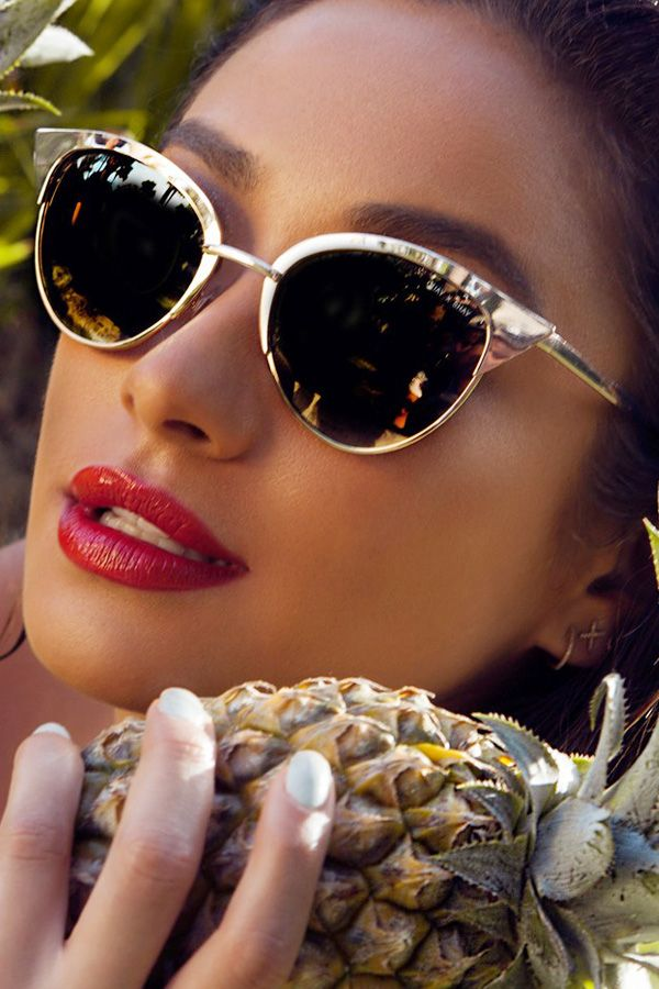 Quay X Shay Mitchell Collection Tilly Sunglasses In Gold Sunglasses Ray Ban Sunglasses Sale Sunglasses Online