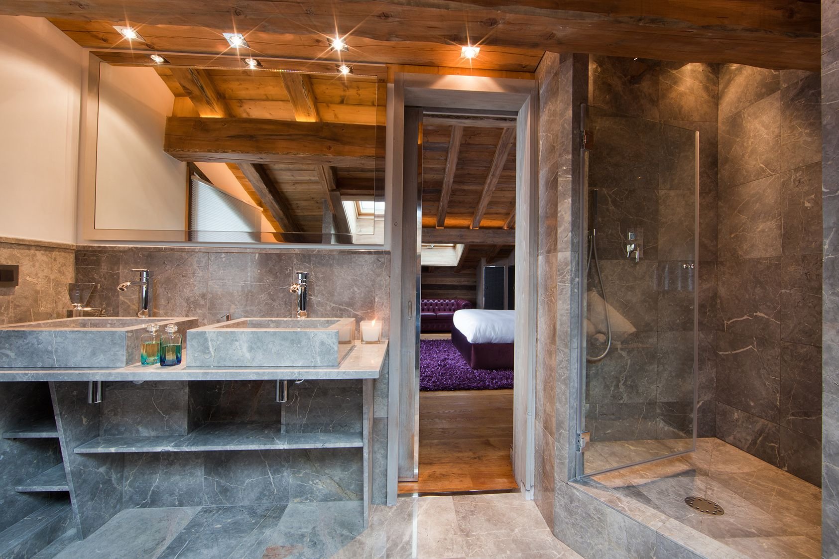 Chalet Luxe  Ikone  Bathroom  Bedroom  Edge Ikone  Ikhome  Luxury Chalet   Salle De Bain