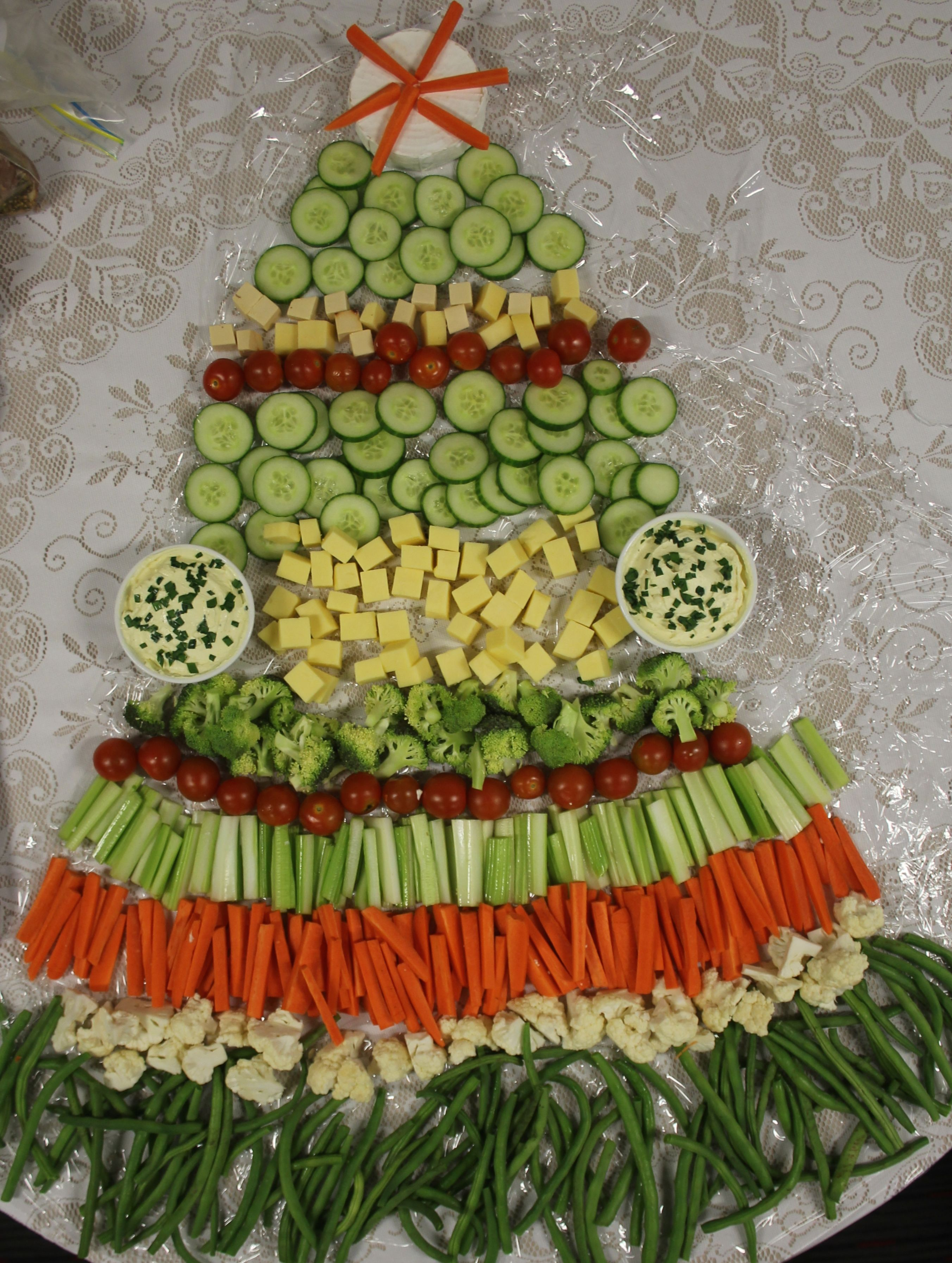 Christmas Party Entree Ideas Part - 40: ... Kids Groups Entertaining Visitors Christmas Tree Snack Table  Presentation Cheap Quick Easy Simple Appetisers Finger Food Party Entree  Dip Crudités Food ...