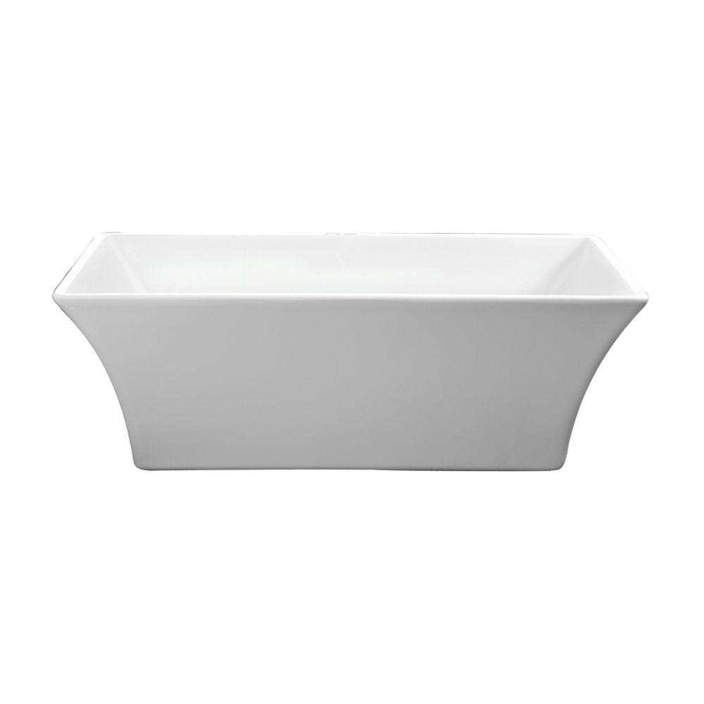 freestanding tub with faucet holes. Tara Freestanding Rectangular Acrylic Tub  No Faucet Holes White Barclay Products Limited 60