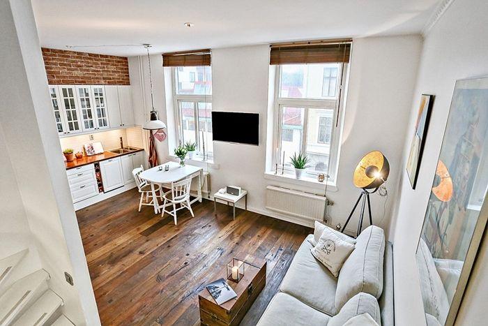 Sweet harmonie apartamento de 30m2 de estilo nordico for Decoracion piso 30m2